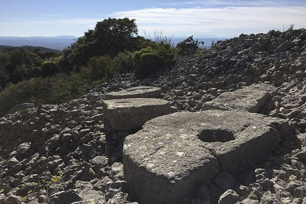 Millstones on a hill